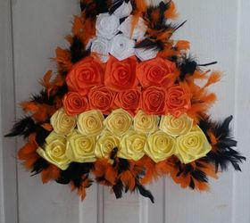 Diy Candy Corn Halloween Door Decor, Crafts, Halloween Decorations, Seasonal  Holiday Decor