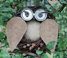 diy repurposed owl wreath, crafts, repurposing upcycling, seasonal holiday decor, wreaths