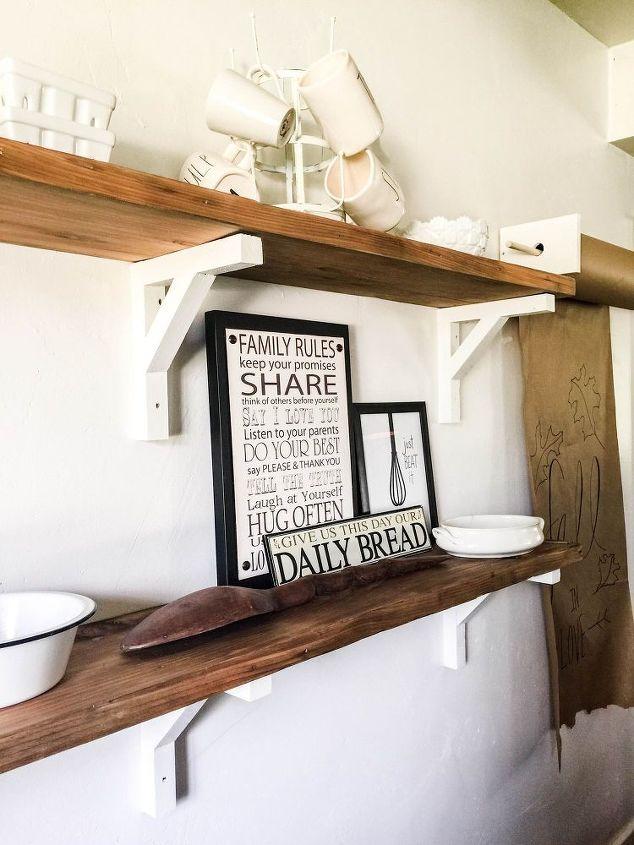 how i built reclaimed wood shelves hometalk. Black Bedroom Furniture Sets. Home Design Ideas