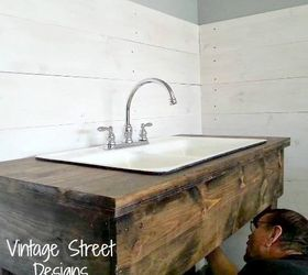 How To Make A Rustic Sink Base, Bathroom Ideas, Diy, How To, Pictures Gallery