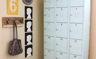 diy painted lockers, painted furniture, repurposing upcycling, storage ideas