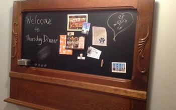 Antique Mirror Frame Turned Into Magnetic Chalkboard