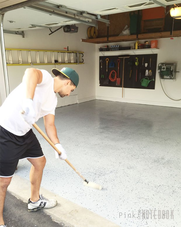 diy garage floor tutorial rocksolid polycuramine, diy, flooring, garages, how to, painting
