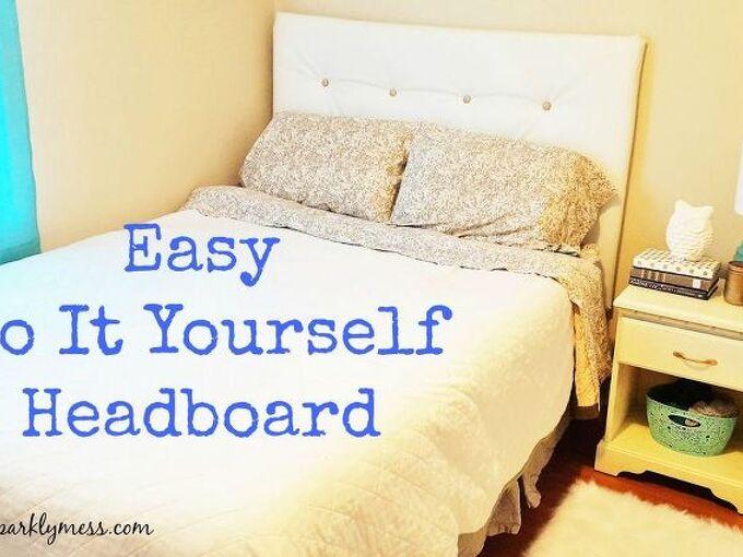 simple diy tuffed headboard, bedroom ideas, crafts, diy