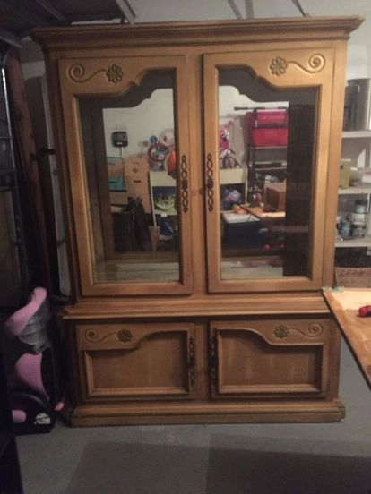 Dining Room China Cabinet Makeover Chalk Paint Painted Furniture