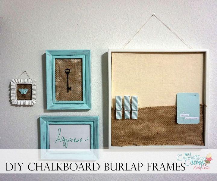 Burlap Lovers Chalkboard Frame Tutorial