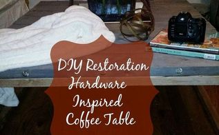 diy inspired restoration hardware brickmaker coffee table, painted furniture
