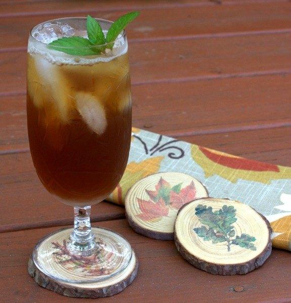 diy wood slice coasters, crafts