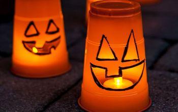 Thrifty Three-Minute #Halloween #Pumpkin Luminaries