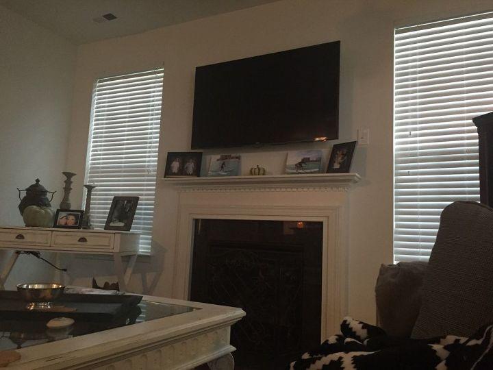 q mounted tv mantel distress how do you decorate, fireplaces mantels, home decor, home decor dilemma, mantels, wall decor