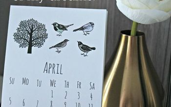 diy desk calendar, crafts, diy, woodworking projects