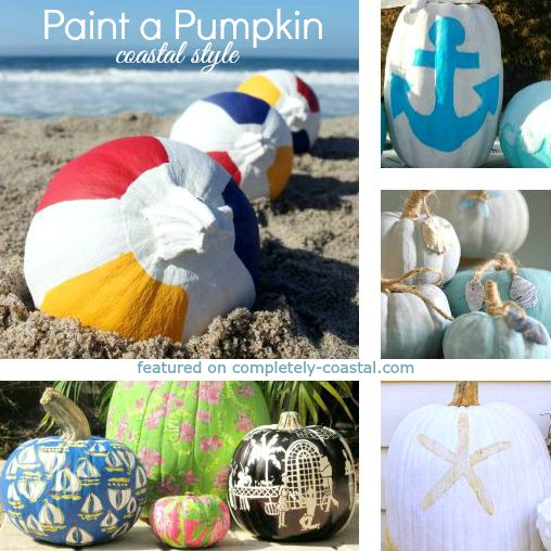 Painted Pumpkins inspired by the Sea