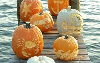 Creative Coastal, Beach & Nautical Pumpkins & Carved Jack O Lanterns