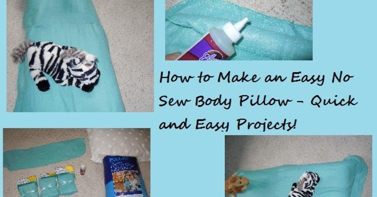 Easy No Sew Body or Floor Pillow Pattern   Hometalk