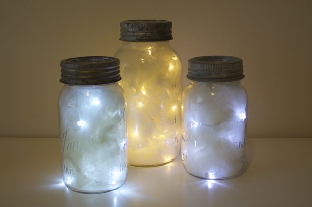 vintage jar lanterns, crafts, lighting, outdoor living, repurposing upcycling, seasonal holiday decor