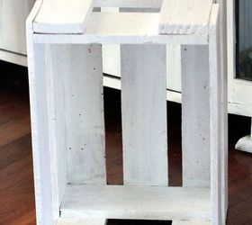 Diy Crate Side Table, Diy, Painted Furniture, Repurposing Upcycling