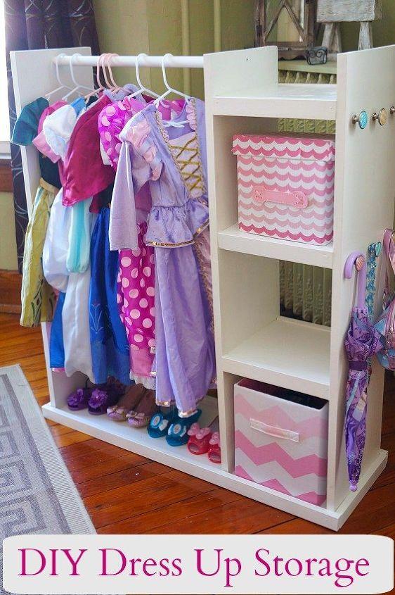 diy dress up storage center, diy, painted furniture, repurposing upcycling, storage ideas