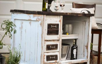 this end up desk turn kitchen island, kitchen design, painted furniture, repurposing upcycling