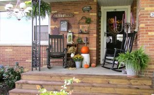 diy updating our porch to 2015 stage 1, concrete masonry, diy, outdoor living, patio, seasonal holiday decor