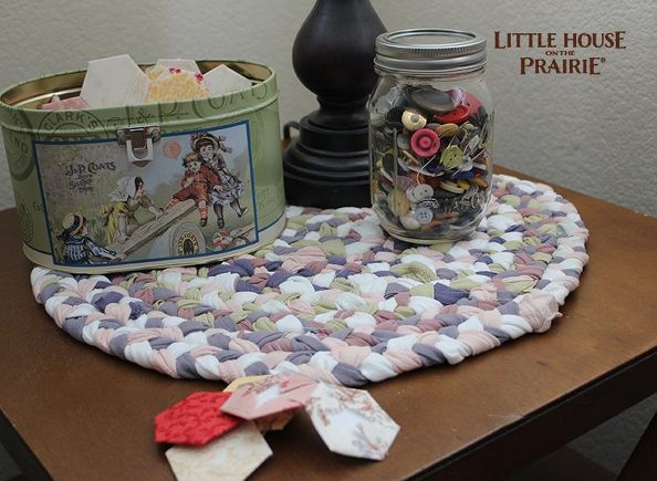 old fashioned braided rug style placemats, crafts, Basic sewing skills are enough for this DIY