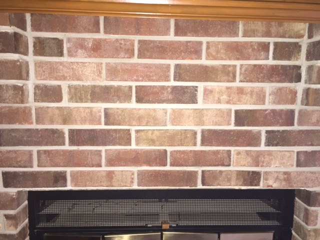 q i need some help spicing up this fireplace, fireplace makeovers, fireplaces mantels, home decor, wall decor, This is a close up of the brick