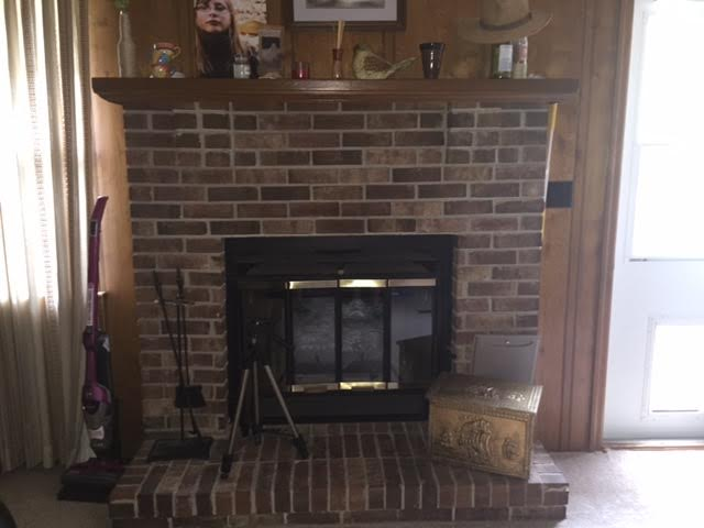 q i need some help spicing up this fireplace, fireplace makeovers, fireplaces mantels, home decor, wall decor, This shows the paneling with the fireplace