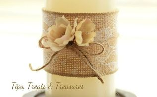 easy diy candles dress up candles for fall, crafts, home decor, repurposing upcycling, seasonal holiday decor