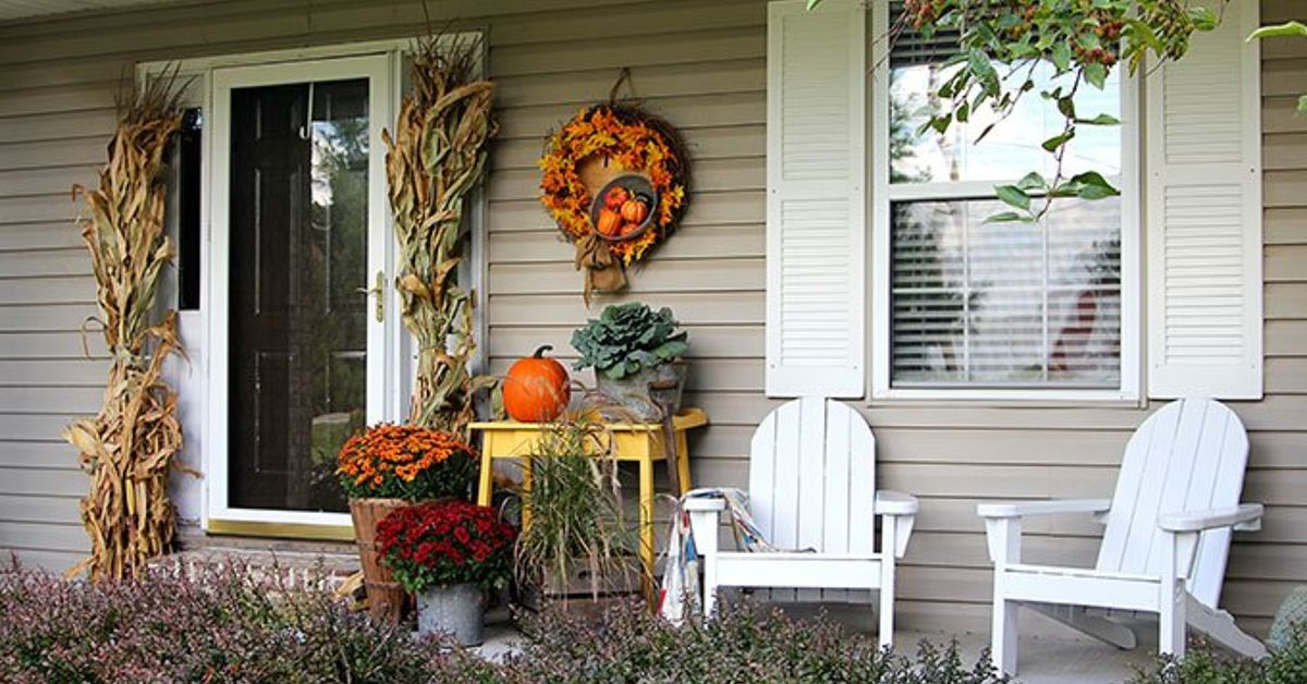 Fall Porch Decor Farmhouse Style