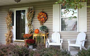 fall porch decor farmhouse style, crafts, home decor, porches, seasonal holiday decor