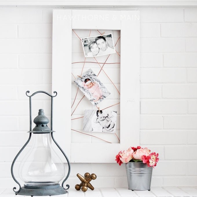 copper wire photo display, crafts, how to