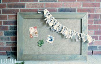Framed Burlap Bulletin Board