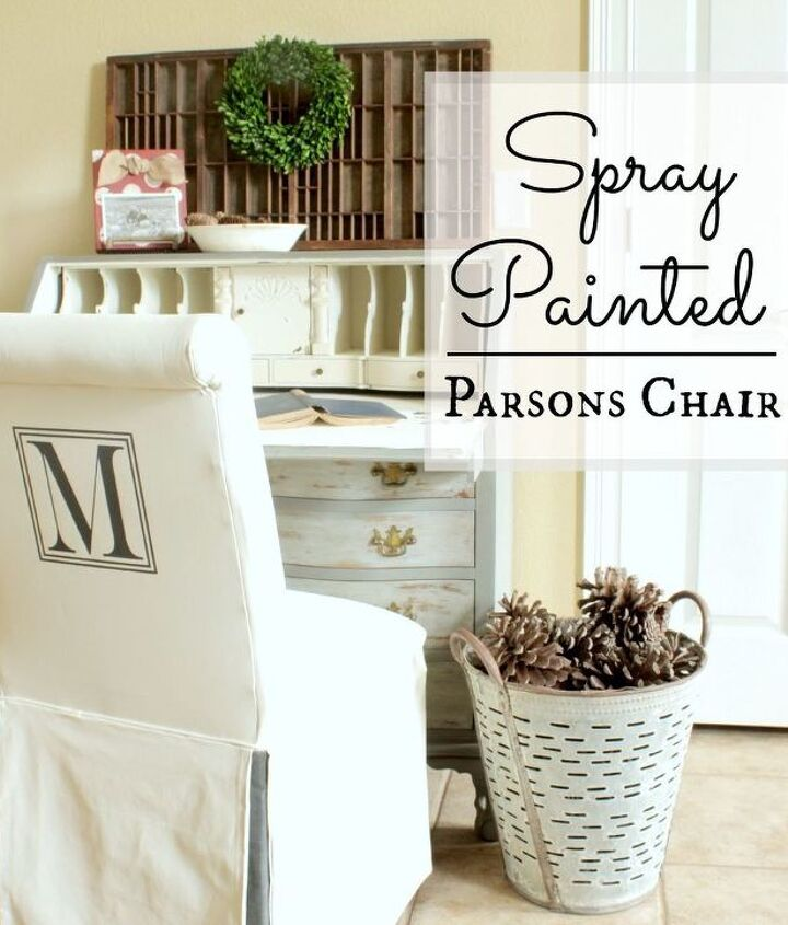 spray painted parsons chair, chalk paint, painted furniture, repurposing upcycling