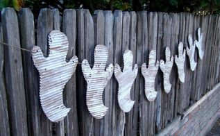easy ghost garland, crafts, halloween decorations, home decor