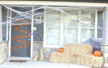 affordable halloween front porch decorations, halloween decorations, seasonal holiday decor