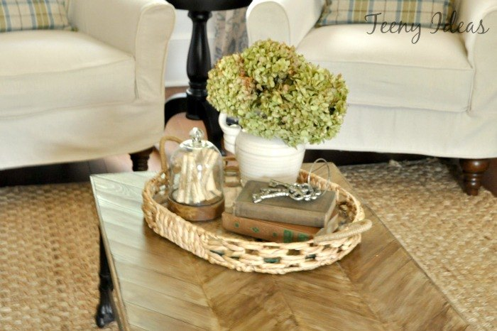 diy chevron coffee table makeover, painted furniture, repurposing upcycling, rustic furniture, woodworking projects