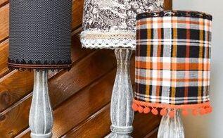 halloween inspired lampshades, halloween decorations, seasonal holiday decor