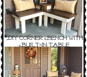 Diy Corner Bench With Built In Table, Diy, Outdoor Furniture, Painted  Furniture,