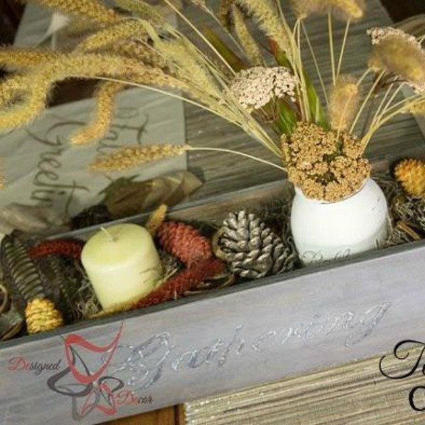 s here s how insanely creative people get ready for holiday guests, home decor, seasonal holiday decor, woodworking projects, Through Centerpiece