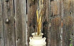 vintage autumn milk can, crafts, repurposing upcycling, seasonal holiday decor