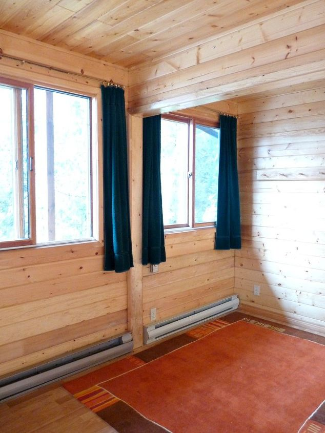 q can i work with the pine panelling, home decor dilemma, wall decor, woodworking projects, This is my pine paneled guesthouse