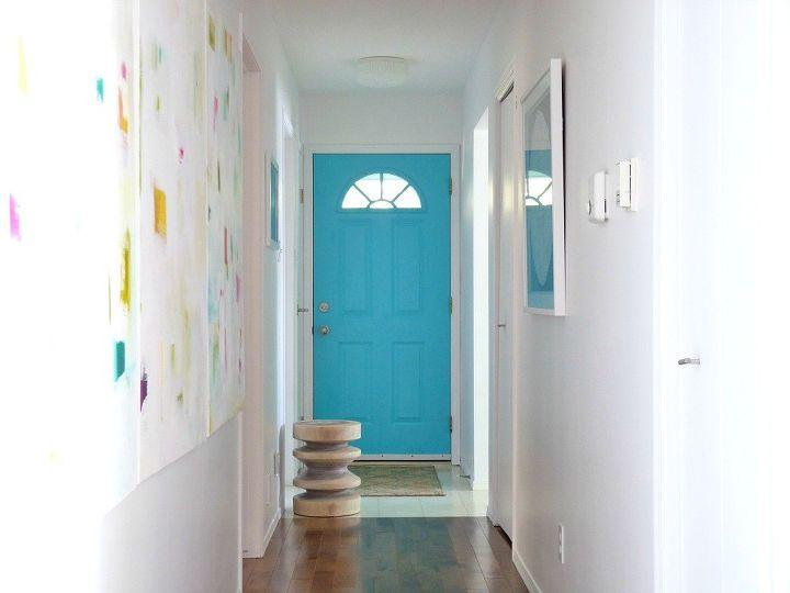 mid century front doorA MidCentury Inspired Aqua Front Door  Hometalk