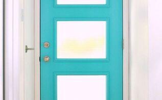 a mid century inspired aqua front door, doors, home decor, paint colors