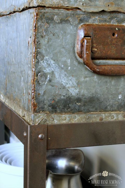 upcycled vintage toolbox shelf faux rusty tutorial, repurposing upcycling, shelving ideas