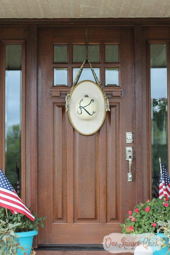 monogrammed pumpkin door hanging, crafts, seasonal holiday decor