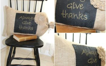 burlap pillow for fall, crafts, seasonal holiday decor