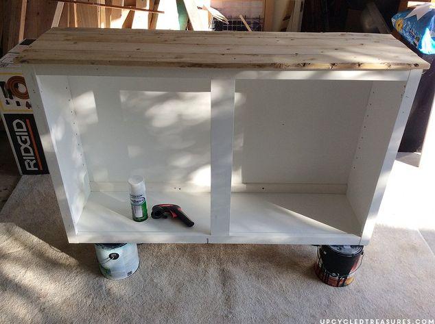 Upcycled Barnwood-Style Cabinet   Hometalk