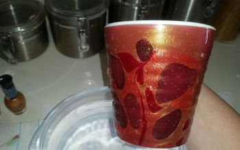 diy marbled coffee cups, crafts