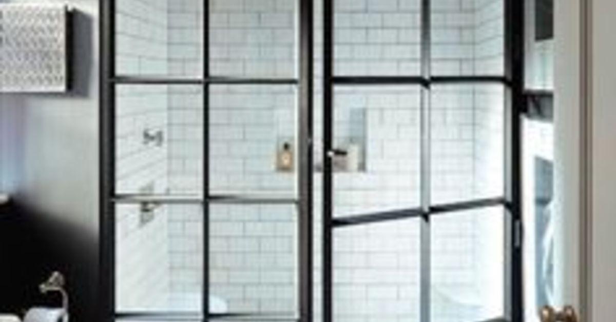 How To Create Black Steel Windows Look On My Shower Hometalk