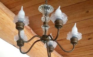 upcycled chandelier ruffles, crafts, diy, lighting, repurposing upcycling, AFTER
