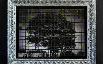 tile tree mosaic art, crafts
